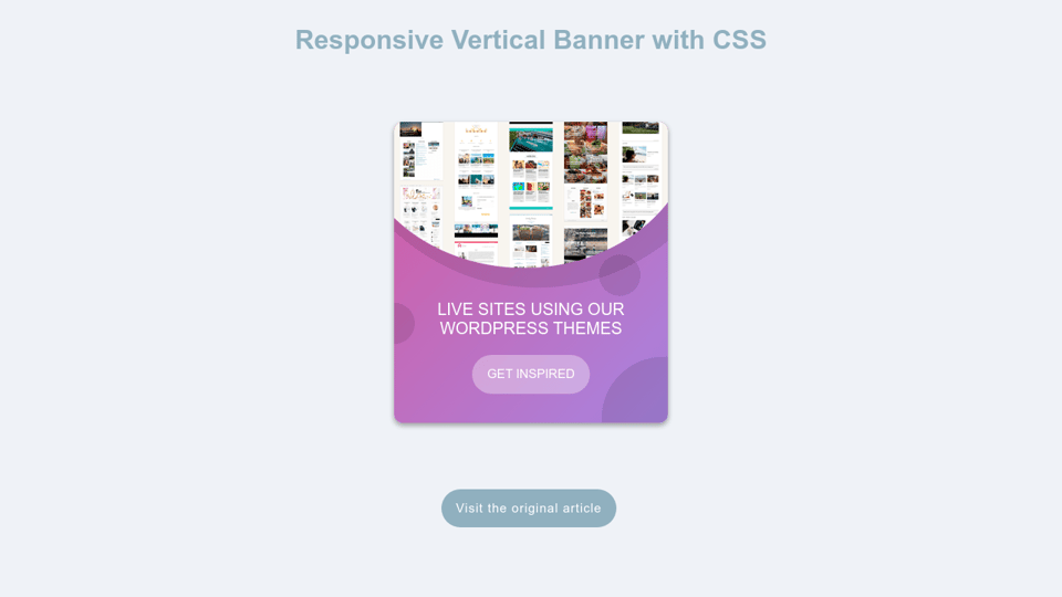 Responsive Vertical Banner Using Css