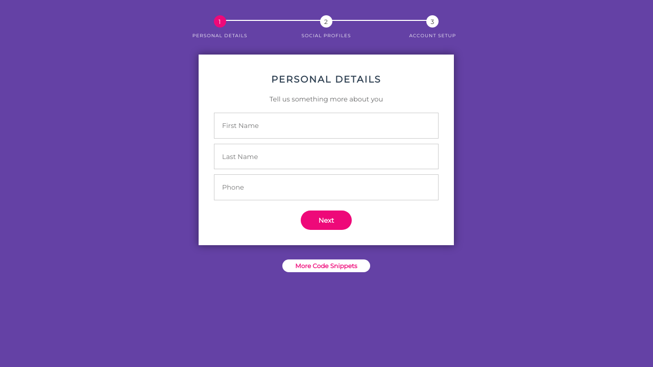 Bootstrap 4 Registration Form Template Codepen