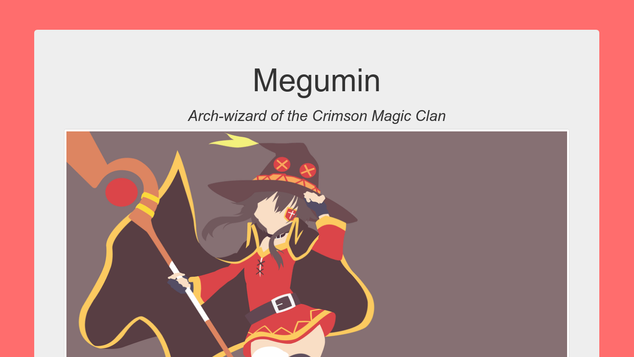 Megumin Tribute