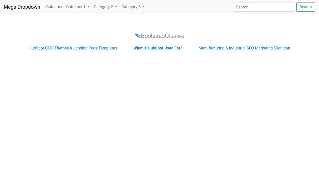 Mega Dropdown Menu Navbar - Bootstrap 4