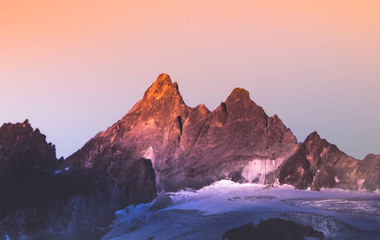 Some lush mountains at sunset