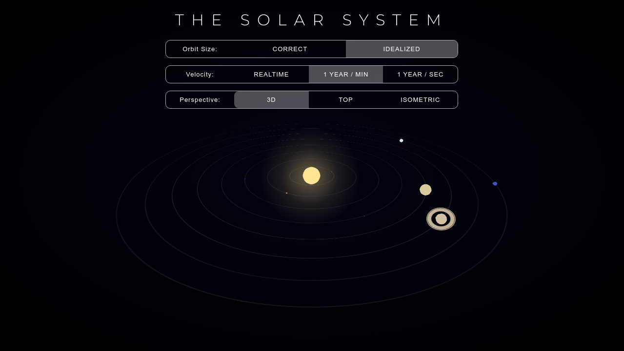 CodePen - Solar System 3D Animation (Pure CSS)