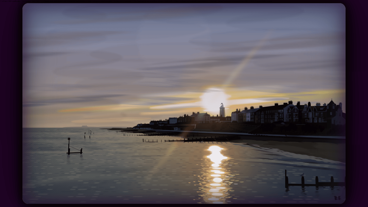 Pure CSS Landscape - An Evening in Southwold