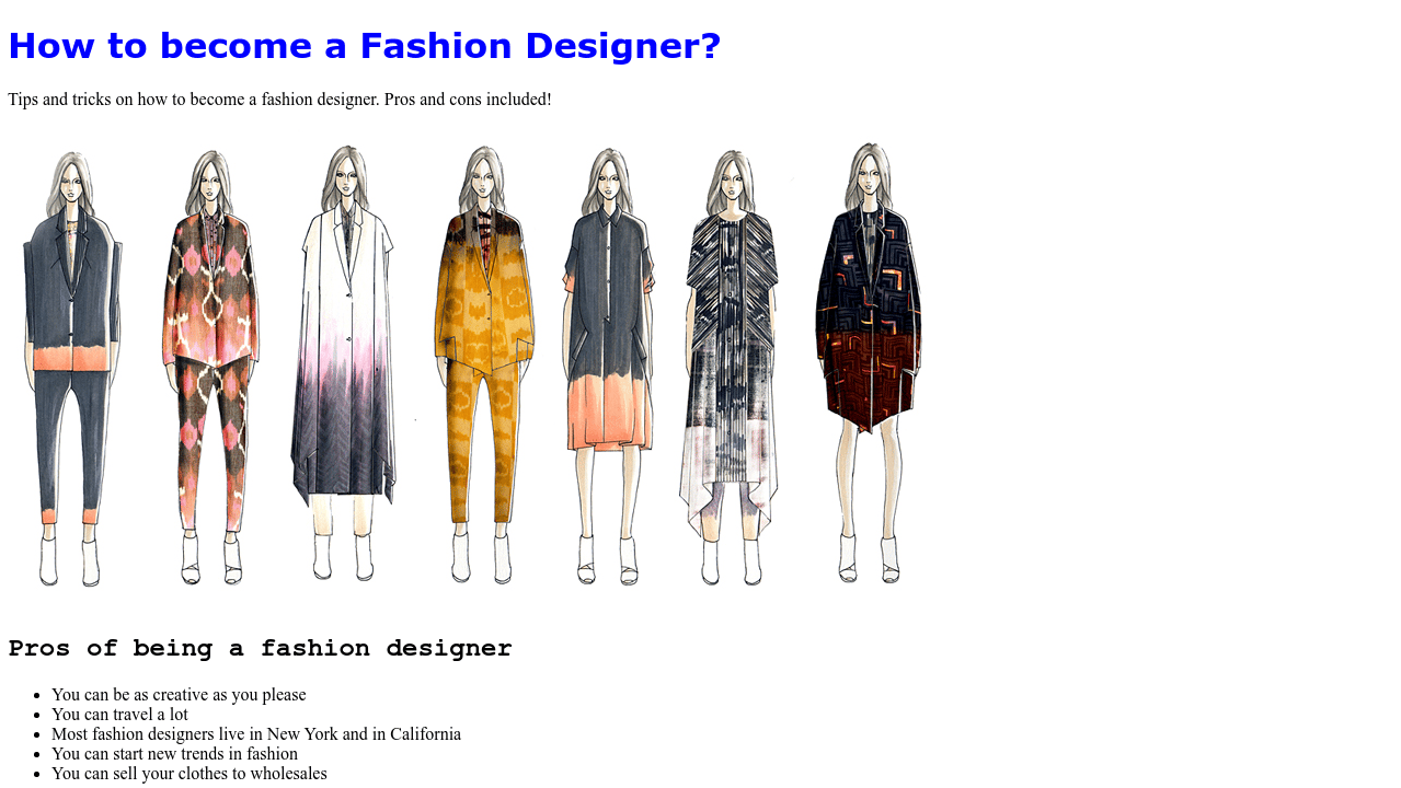 Codepen Fashion Design