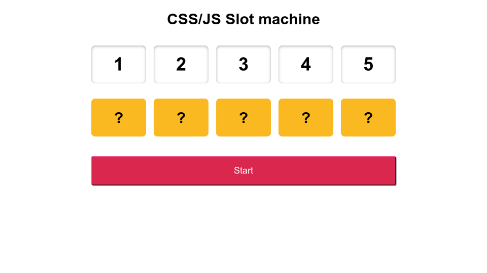 Slot Machine Css