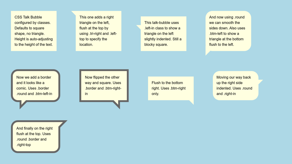 Bubble css chat 3 Steps