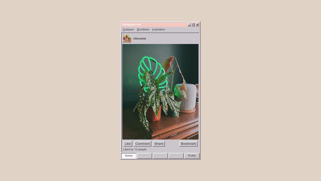 CodePen - Instagram.exe