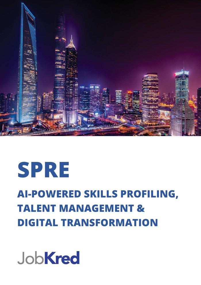 Sample brochure for JobKred: Page 1