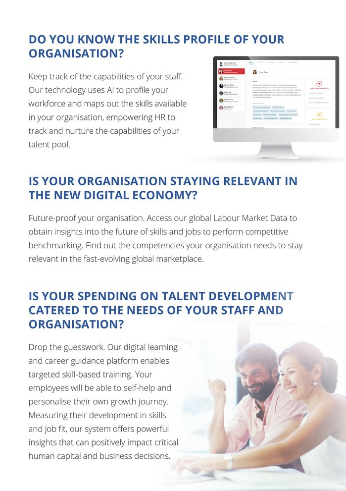 Sample brochure for JobKred: Page 2