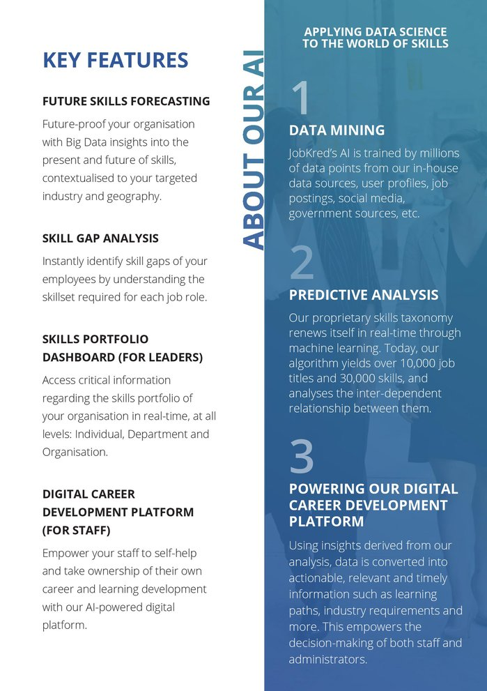 Sample brochure for JobKred: Page 3