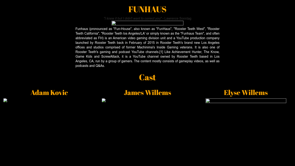 Funhaus Tribute Page Medias and tweets on adamstjohn ( adam st.john lawrence 🇪🇺 ) ' s twitter profile. funhaus tribute page