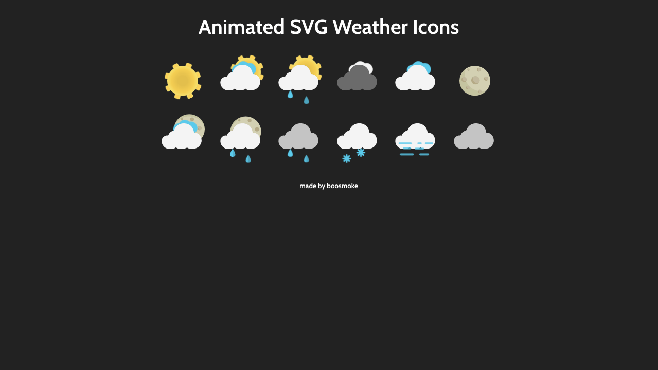 Animated Weather Icons Svg