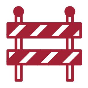 traffic barricade icon